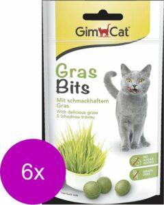 Gimcat Gras Bits - Kattensnack - 6 x 40 g