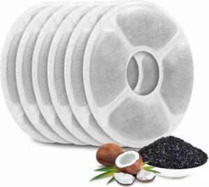 Kat - Drinkfontein navulling filters set met kokos snippers -6 stuks