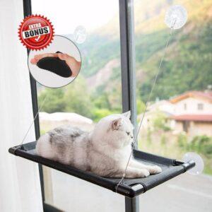 Kattenhangmat - Hangmat kat- Kattenhangmat Raam – Kattenbed - Kattenhangmand - Kattenkussen - Inclusief Borstelhandschoen