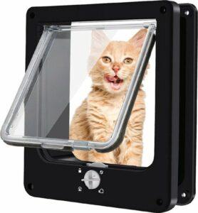 Omnium - Kattenluik Met Tunnel - Hondenluik - 4 Vergrendelingsstanden - Grote Kat - Buitendeur