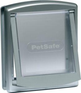 Petsafe 737 Kattenluik - Zilver-Transparant - 23,6 x 19,8 cm