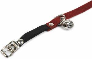 Beeztees Kattenhalsband Suede - Rood - 32 x 1 cm