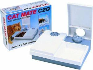 Cat Mate Voederautomaat C20 2 porties - Wit - 26 x 21cm
