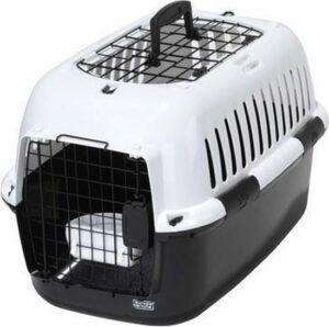 Ebi Adventurer 60 charcoal reismand - kleine hond of kat - Zwart - Wit - 57 x 38 x 38cm