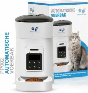 Pretty Paws® - PP002 Professionele Automatische Voerbak Kat- Stemrecorder - Voerautomaat - Katten Voerbak - Minimalistisch