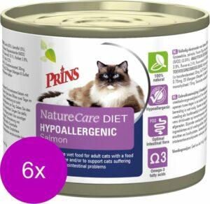 Prins Naturecare Diet Cat Hypoallergenic - Kattenvoer - 6 x Zalm 175 g