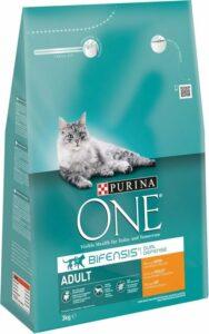 Purina ONE Adult - Kattenvoer Kip & Volkoren Granen - 3 kg