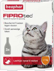Beaphar Fiprotec - Vlooiendruppels - Katten vanaf 1 kg en 8 weken