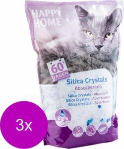 Happy Home Solutions Hygienic Crystals Light Plus - Kattenbakvulling - 3 x 7 l