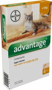 Advantage 40 Vlooiendruppels Kat tot 4 kilo