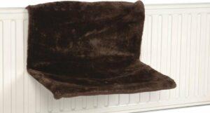 Hangmat Sleepy voor aan een radiator Bruin