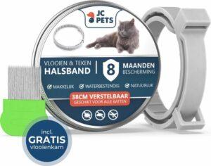 JC. Teken- en Vlooienband Kat - Alle Maten - Anti Vlooien voor Katten