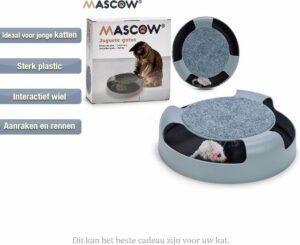 Katten Speel Wiel Met Muis- Interactief Kattenspeelgoed